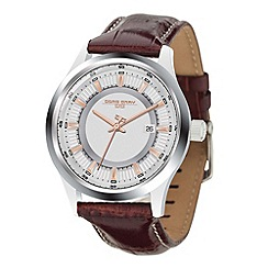 Jorg Gray - Mens brown leather 3 hand strap watch