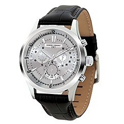 Jorg Gray - Mens chronograph watch with black leather strap