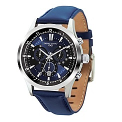 Jorg Gray - Mens chronograph watch with blue leather strap.