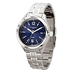 Jorg Gray - Mens blue dial stainless steel bracelet watch.