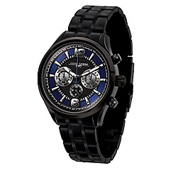 Jorg Gray - Mens blue dial chronograph watch with black case