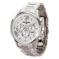 Jorg Gray - Ladies patterned dial steel chronograph watch