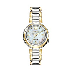 Citizen - Ladies two tone 'Sunrise' bracelet watch