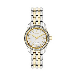 Citizen - Ladies two tone 'warovski crystal bracelet watch ew1908-59a