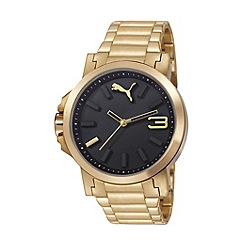 Puma - Unisex Gold 'Ultrasize' bracelet watch