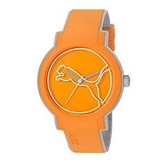 Puma - Unisex Orange 'Swing' lightweight watch with plastic strap