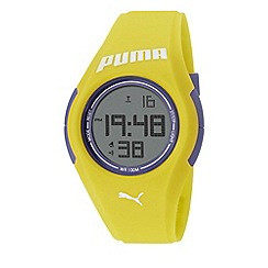 Puma - Unisex Yellow 'Tonic' digital watch