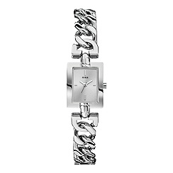 Guess - Women's silver chain g-link bracelet watch