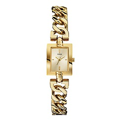 Guess - Women's gold chain g-link bracelet watch