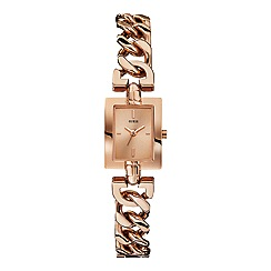 Guess - Women's rose gold chain g-link bracelet watch