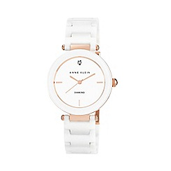 Anne Klein - Ladies white ceramic watch ak/n1018rgwt