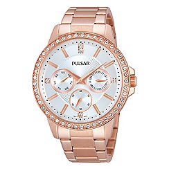 Pulsar - Ladies rose gold multidial bracelet watch
