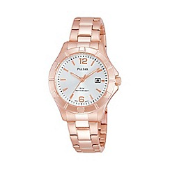 Pulsar - Ladies Rose gold sports bracelet watch ph7388x1