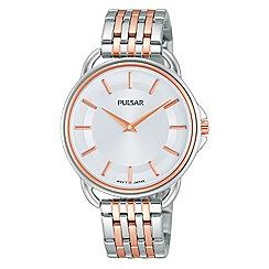 Pulsar - Ladies rose gold two tone bracelet watch