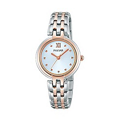 Pulsar - Ladies two tone rose gold bracelet dress watch ph8116x1