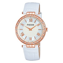 Pulsar - Ladies rose gold plate dress watch