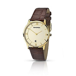 Sekonda - Mens gold plated strap watch 1041.28