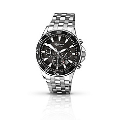Sekonda - Mens chrome coloured chronograph bracelet watch
