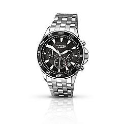 Sekonda - Mens chrome coloured chronograph bracelet watch