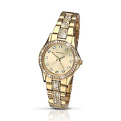 Sekonda - Ladies gold plated stone set bracelet watch