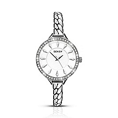 Seksy - Ladies chrome coloured bracelet watch