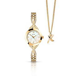 Sekonda - Ladies gold plated watch and pendant gift set