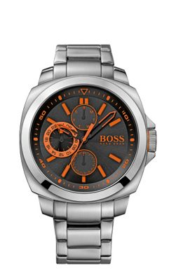 Boss Orange Men´s black chronograph bracelet watch - . -