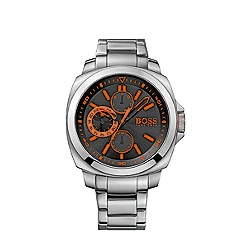 Boss Orange - Men's black chronograph bracelet watch