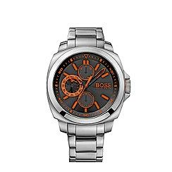 Boss Orange - Men's black chronograph bracelet watch