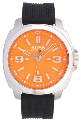 Boss Orange Men´s orange quartz strap watch - . -