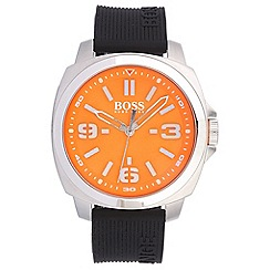 Boss Orange - Men's orange quartz strap watch