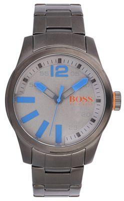Boss Orange Men´s grey quartz bracelet watch - . -