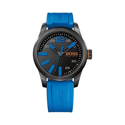 Boss Orange Men´s blue quartz strap watch - . -