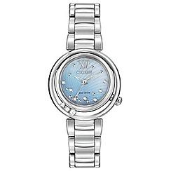 Citizen - Ladies silver tone 'Sunrise' bracelet watch em0330-55d