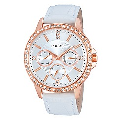 Pulsar - Ladies Rose Gold strap watch