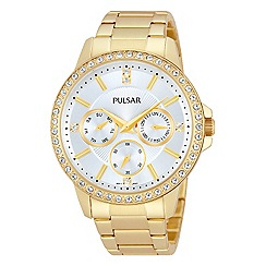 Pulsar - Ladies gold plate multidial bracelet watch