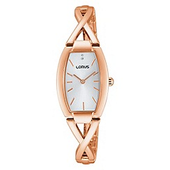 Lorus - Ladies rose gold dress bracelet watch