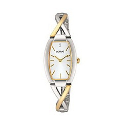 Lorus - Ladies gold plated dress bracelet watch rrw51ex9