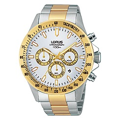 Lorus - Mens stainless steel chronograph watch