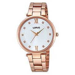 Lorus - Ladies rose gold dress bracelet