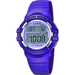 Lorus - Childrens purple back light watch