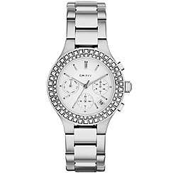 DKNY - Ladies fashion chronograph chambers watch with foil set crystals