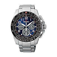 Seiko - Men's solar chronograph bracelet watch