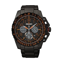 Seiko - Men's solar chronograph strap watch