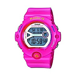 Casio - Ladies pink 'Baby G' digital watch