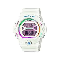 Baby-G - Ladies white 'Baby G' digital watch bg-6903-7cer