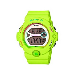 Baby-G - Ladies green 'Baby G' digital watch