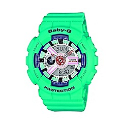 Baby-G - Ladies green 'Baby G' digital watch ba-110sn-3aer