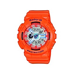 Casio - Ladies orange 'Baby G' digital watch
