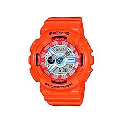 Casio - Ladies orange 'Baby G' digital watch
